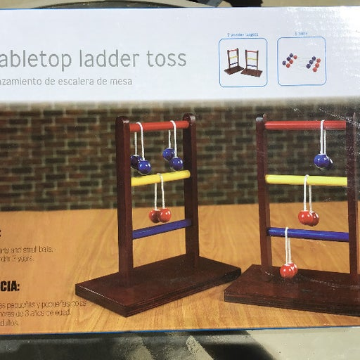 Table top ladder toss Wood game