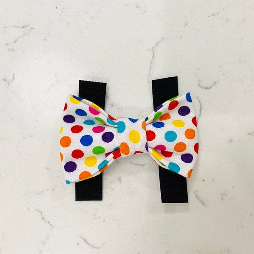 Bright colorful dot pet bow tie