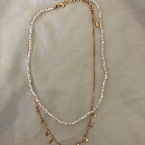 Cute Star and Pearl Necklace