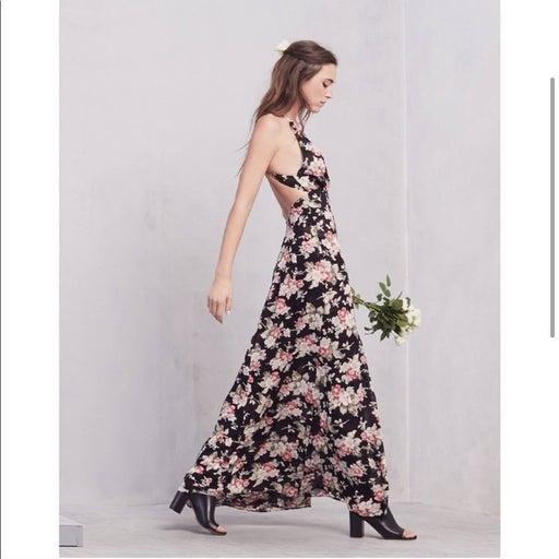 Reformation Rivulet Floral Maxi Dress S