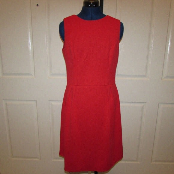 Red CHAPS Sleeveless Dress Sz 12