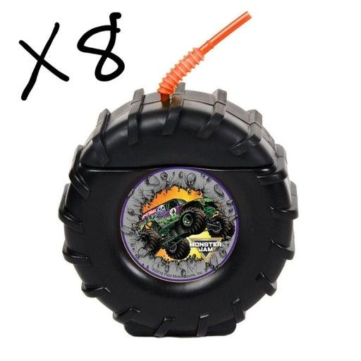 Monster jam party wheel plastic cups