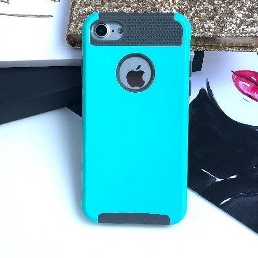NEW iPhone 7/8 Teal Hybrid Bumper Case