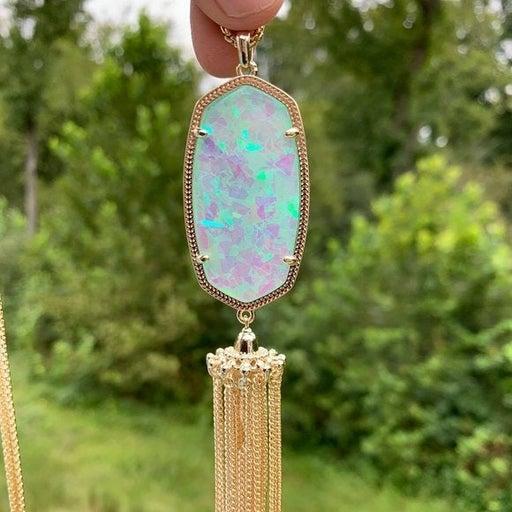 KENDRA SCOTT • Rayne Gold Long Pendant Necklace