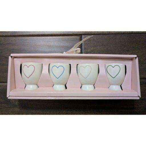 NEW Rae Dunn Heart Love Egg Cups Set of
