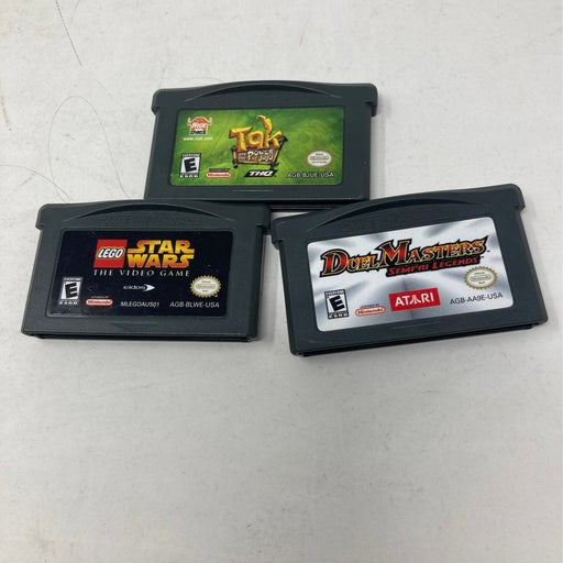 Three Nintendo game boy advance games Lego Star Wars the video game do a masters