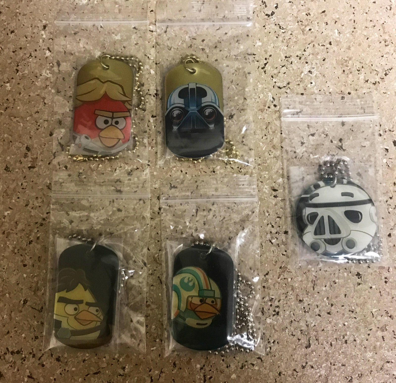 Angry Birds Star Wars & In Space Dog Tag
