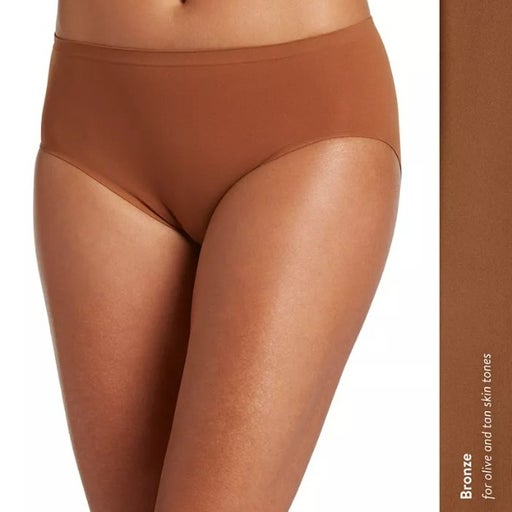 womens panty Jockey Brief style 2146 Brown Bronze Size 7 Air seamless Hi cut NWT