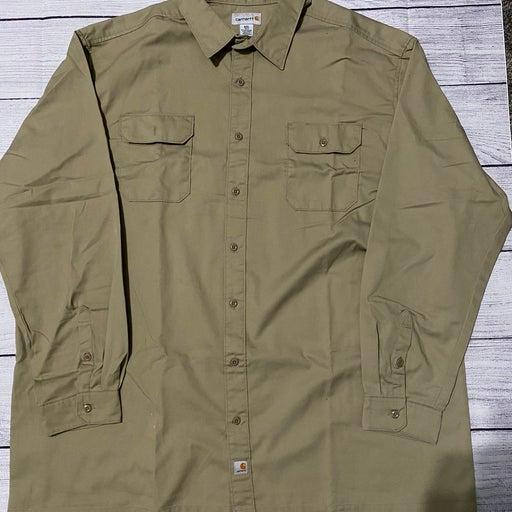 Carrhart long sleeve button down shirts