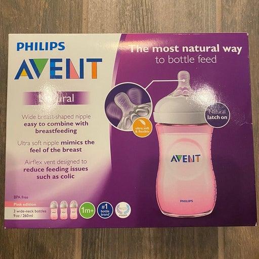 Bundled 2 pack of Avent Natural Bottles in Pink