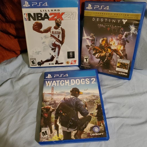 PS4 Lot of 3 Games