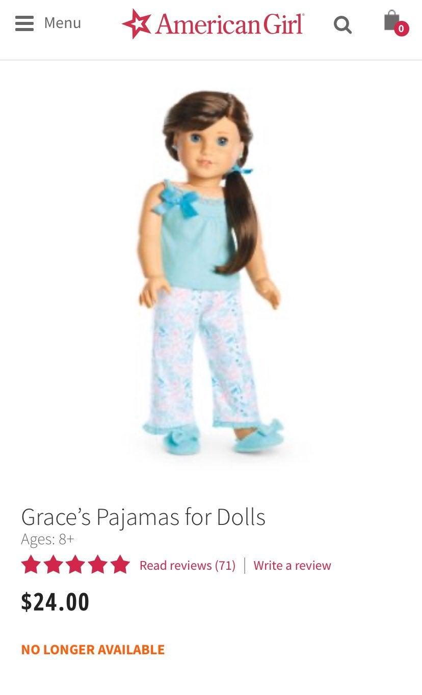 American girl grace pjs