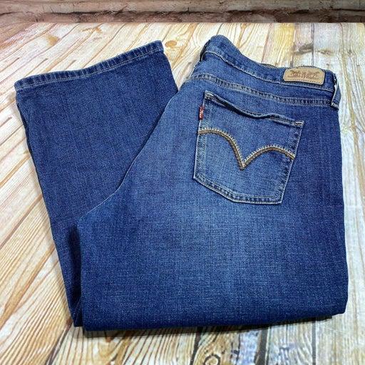 Levi's 515 Boot Cut Women's Size 10 S Short Blue Jeans Denim Pants Stretch 32x30