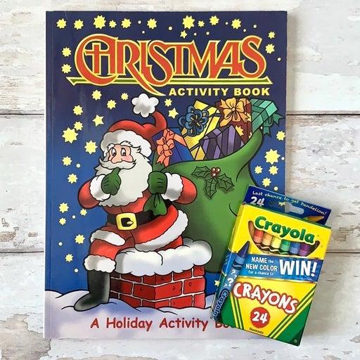 Christmas Coloring Activity Book Crayons