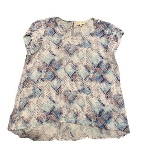 Cynthia Rowley Blue Floral Blouse XL