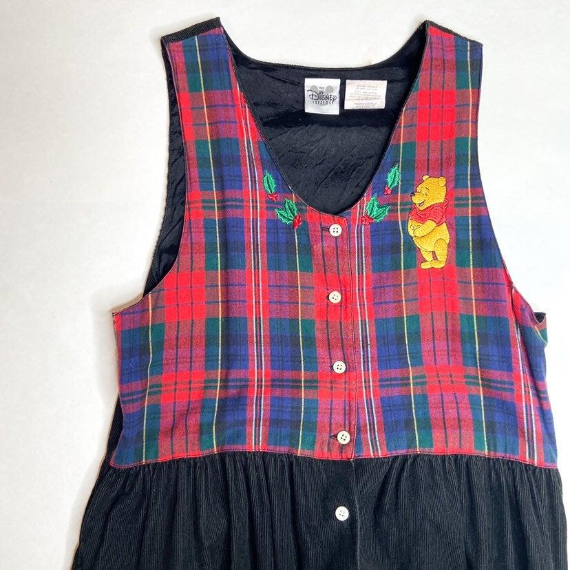 vintage winnie the pooh christmas dress