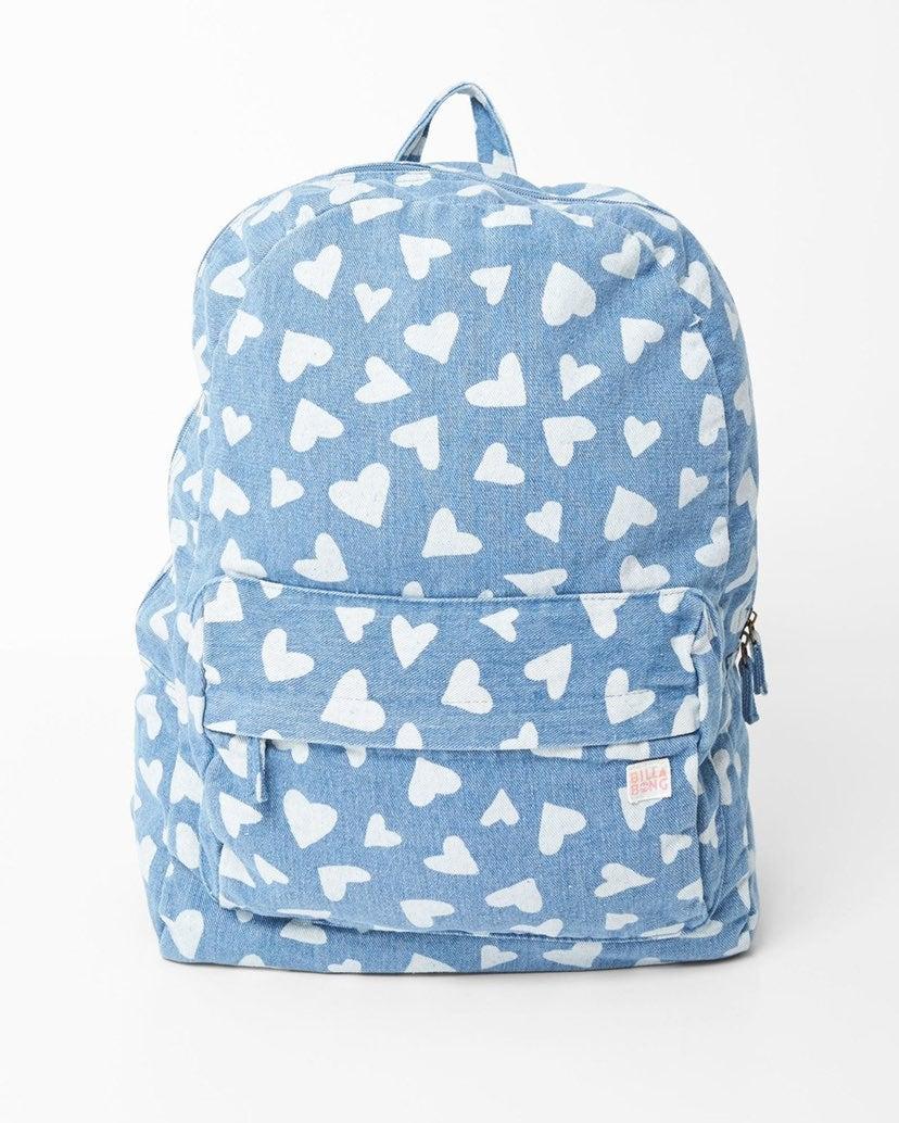NEW Billabong ♡ Heart Canvas Backpack