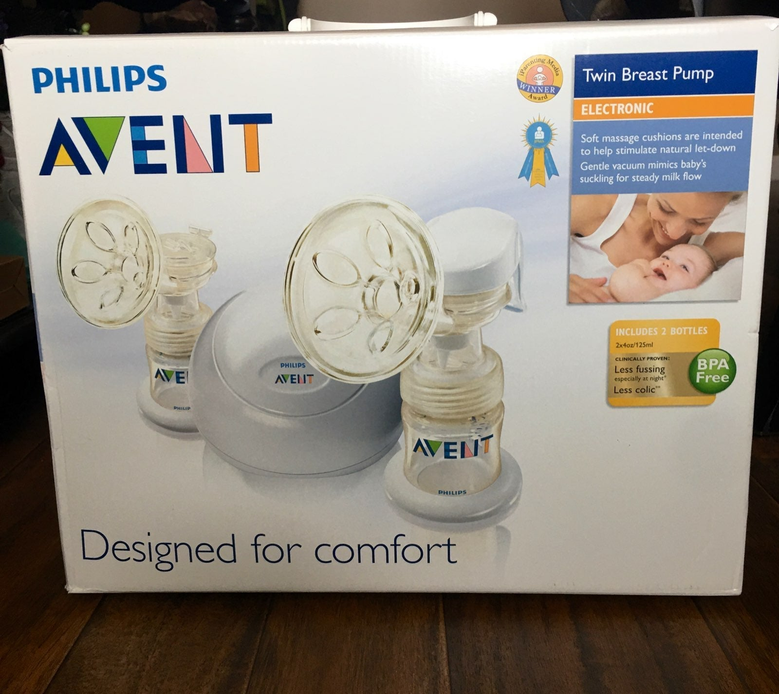 Electric double breast pump & tote