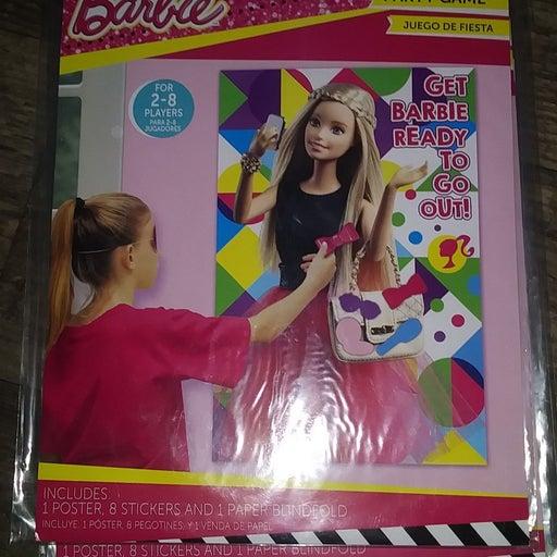Barbie birthday wall game