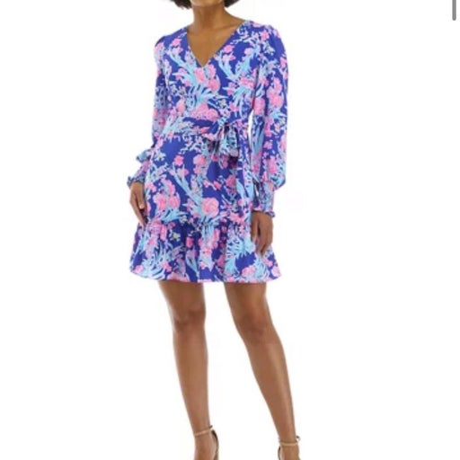 Lilly Pulitzer Rosie stretch dress corsica blue toucan party sz 6