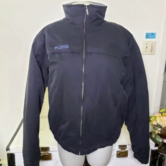 COLOMBIA Blue Soft Shell Full Zip Coat 2