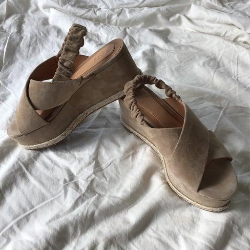 joie platform wedge sandals