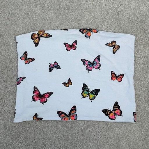 Fashion Nova Butterfly Tube Crop Top - S