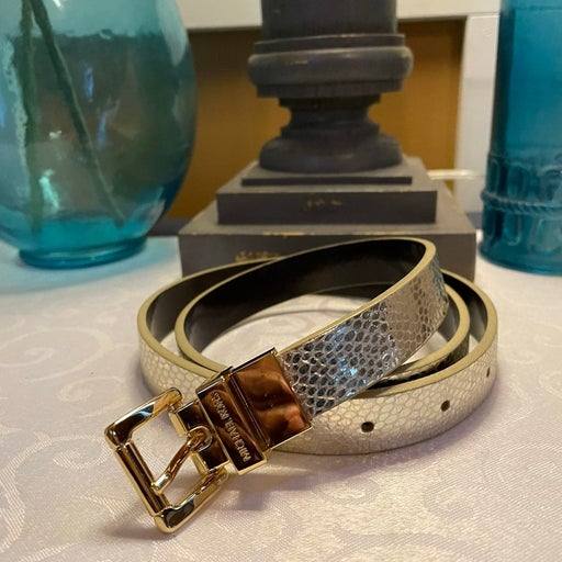 Michael Kors Gold leather belt