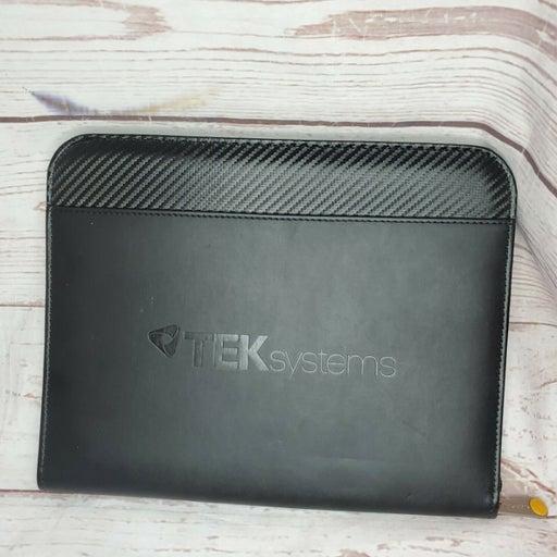 TEK Systems Tablet Pencil File Holder Leather Case Sticky Folder