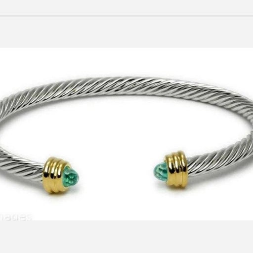 ☆ Two-Tone Twisted Cable Bracelet