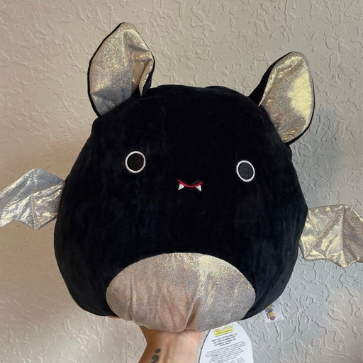 """Squishmallow 12"""" Emily the Bat and Paxton the Pumpkin flipamallow BNWT"""