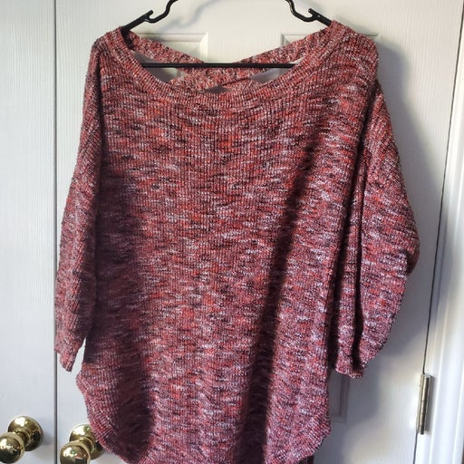 Sweater - express dolman multi-colored
