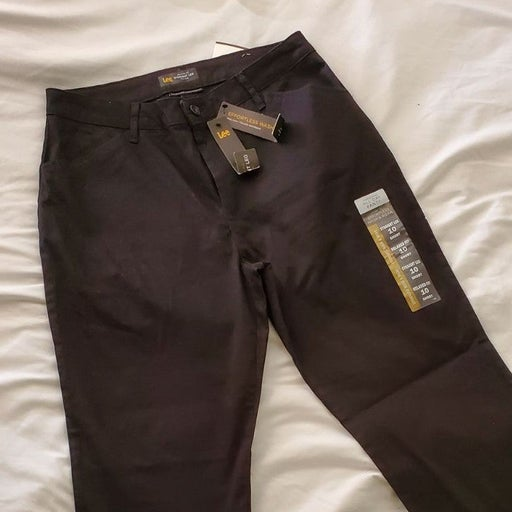 Lee relaxed fit straight leg pants black