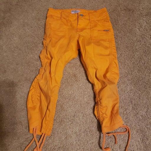 Crest jeans capri orange kids 8