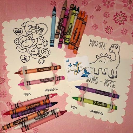 Valentines day Crayola coloring image