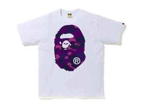 Bape T-shirt Purple Big Ape Head New