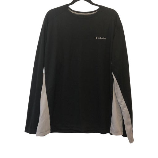Columbia Omni-Shade Black & White Long Sleeve Shirt