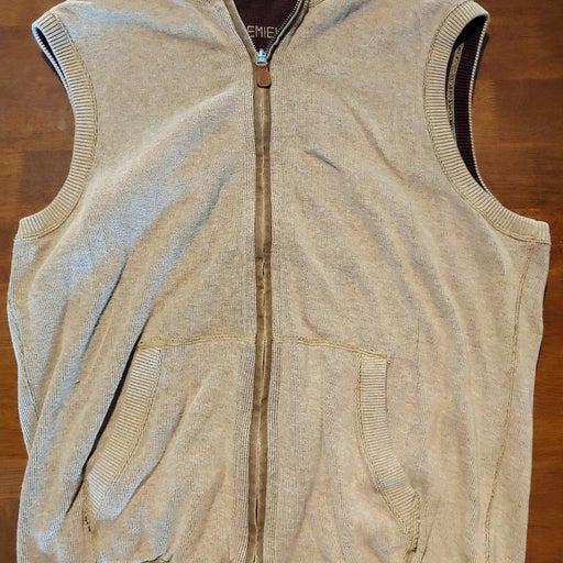 Cremieux Grey Brown Reversible Vest