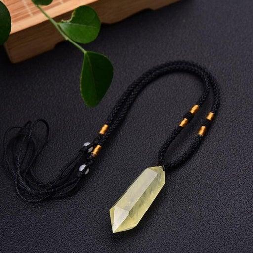 Unique Citrine Pendant Necklace -adjustable