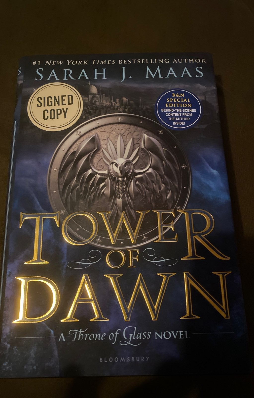 Tower of Dawn Signed Sarah Maas Book