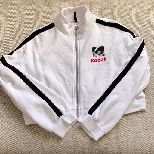 H&M Kodak Cropped Zipped Sweatshirt