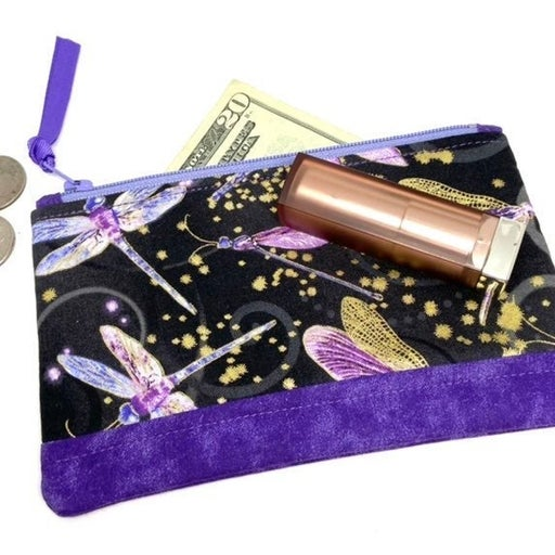 Dragonfly Fabric Padded Zipper Pouch New