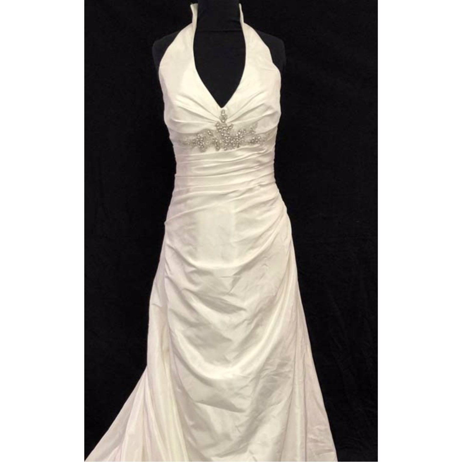 DaVinci Halter Ivory Wedding Dress 18
