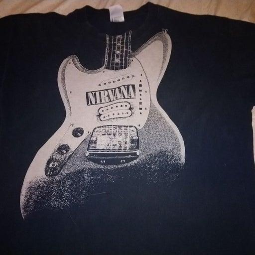 Large black nirvana shirt