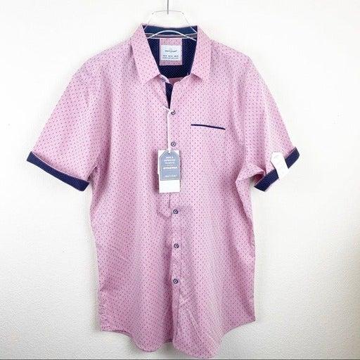 Craft + Flow Button Down SS Shirt XL Red