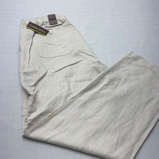Men's Relaxed 100% Linen Beach Pants L