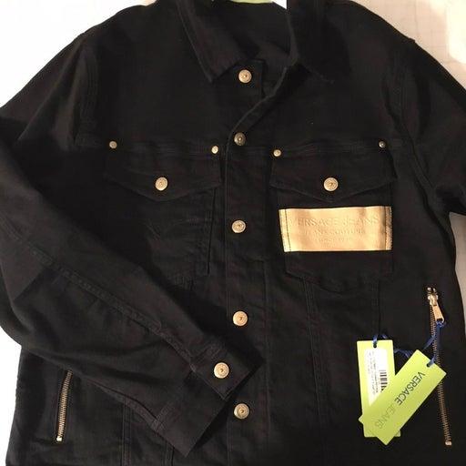 VERSACE Black/Gold Premium Denim Jacket