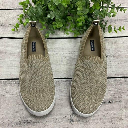 Nautica Sunmast Gold Metallic Knit Shoes