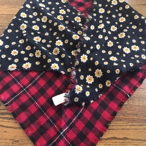 Cute Print Reversible Triangle Scarf
