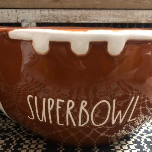 Rae Dunn Superbowl football bowl